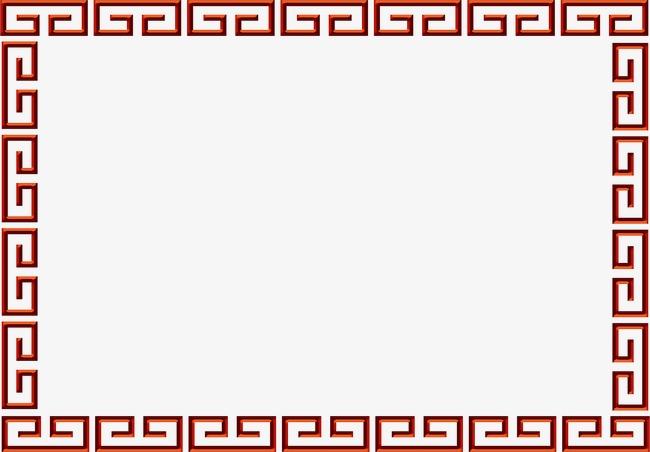 回字纹边框图片下载回字纹古典中国风边框万字纹会字