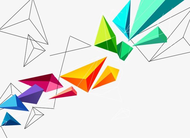 设计元素 其他 其他 > 几何三角立体块  [版权图片] 找相似下一张 >