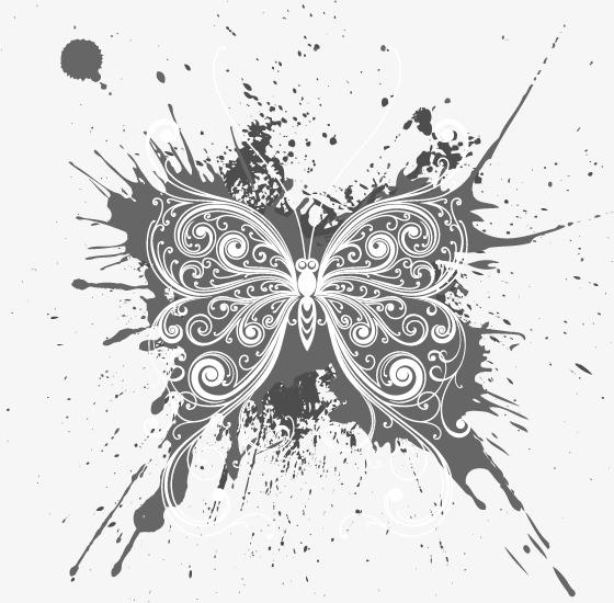 蝴蝶花纹(图片编号:15402883)