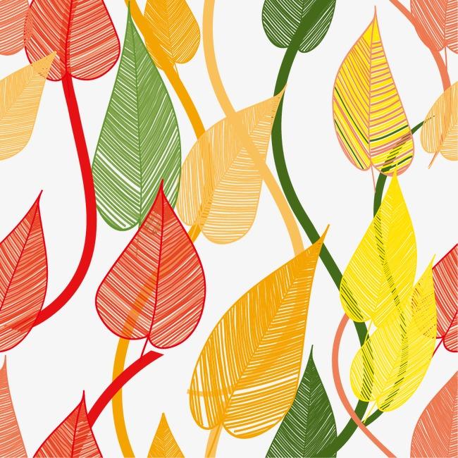 设计元素 背景素材 其他 > 卡通手绘树叶底纹  [版权图片] 找相似下一