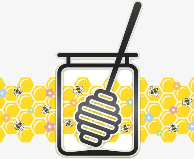 卡通创意蜂蜜罐子