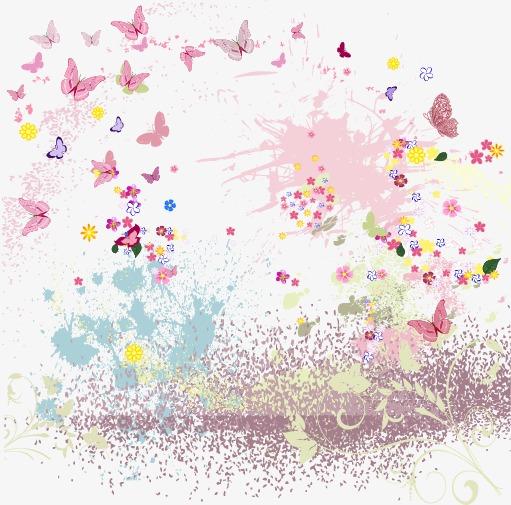 水彩花纹蝴蝶(图片编号:15402259)