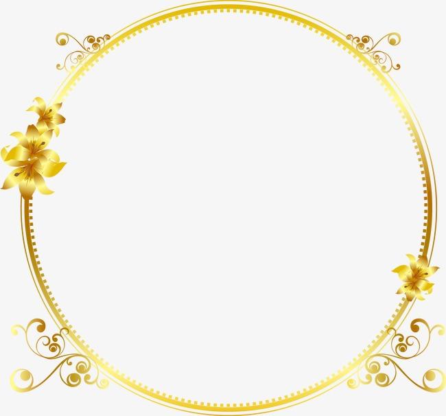 金色花纹边框(图片编号:15402441)