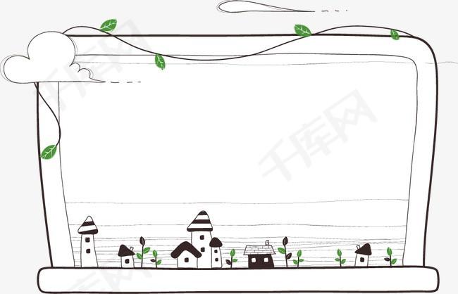 卡通手绘藤蔓边框素材图片免费下载 高清装饰图案psd 千库网 图片编号110456图片