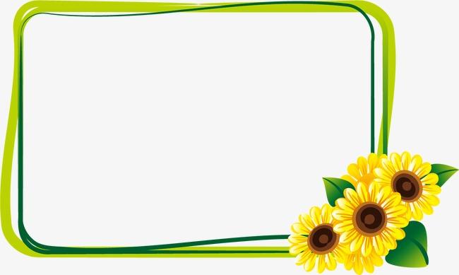 边框向日葵(图片编号:15401200)