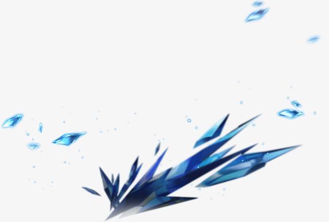 漂浮蓝色水晶
