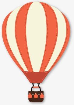 热气球扁平化卡通