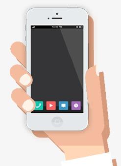手机端首页_手拿手机png素材-90设计