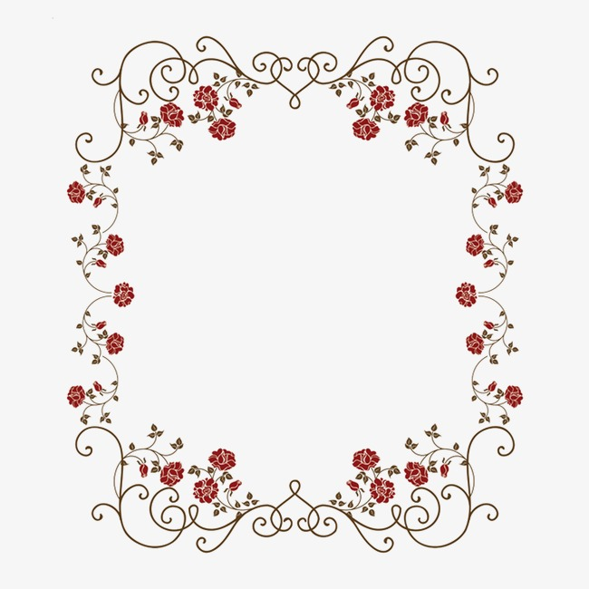 花朵图框png素材-90设计图片