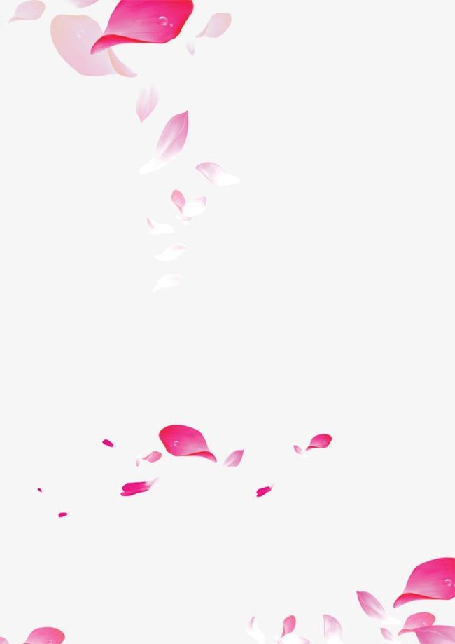 漂浮花瓣装饰背景