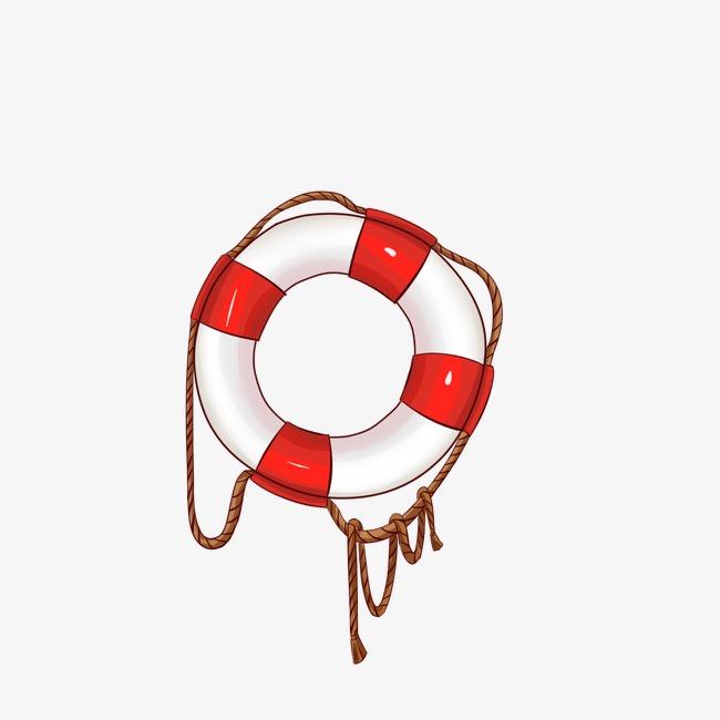 手绘游泳圈