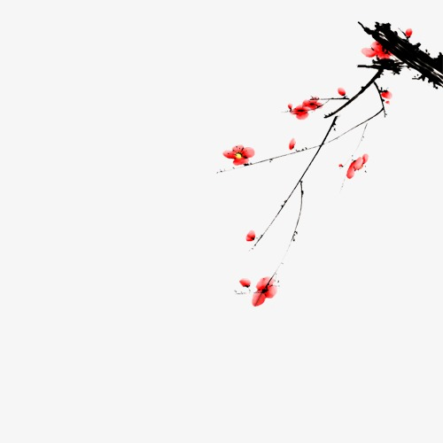 中国风手绘国画年画装饰梅花素材图片免费下载 高清装饰图案png 千库网 图片编号693图片