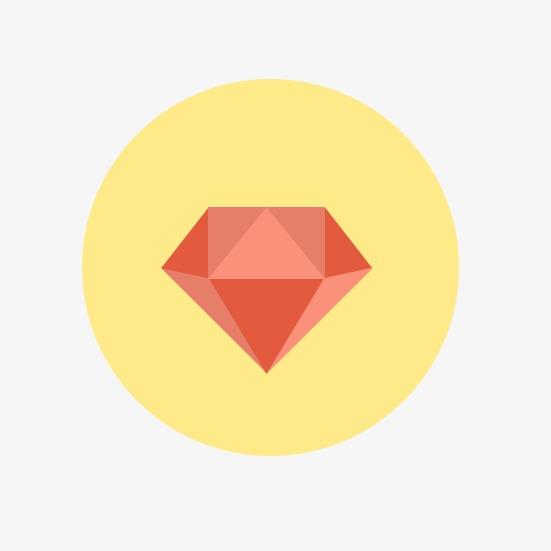 卡通钻石图章