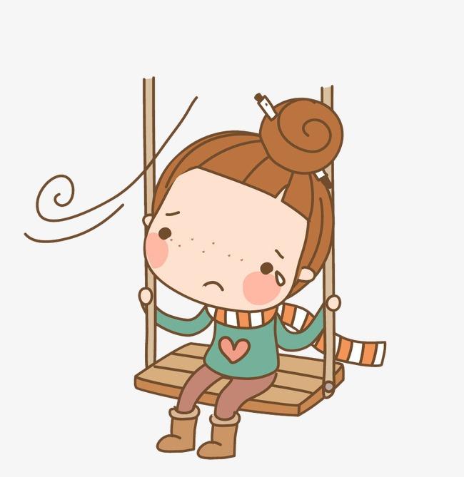 卡通伤心人物素材图片免费下载_高清卡通手绘png_千库