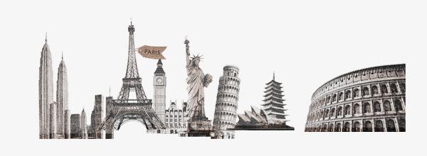 本次世界各国著名建筑物作品为设计师创作,格式为png,编号为 16818374