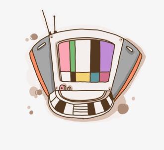 卡通电视机图片