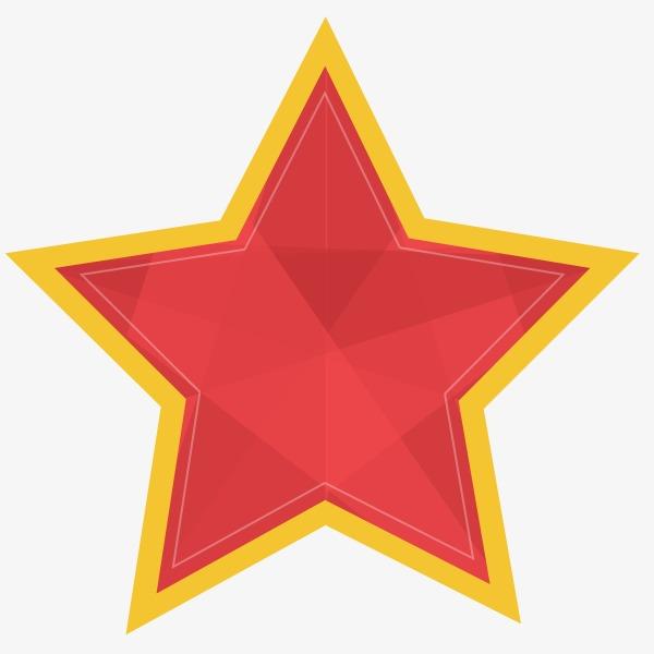 手绘红色五角星素材