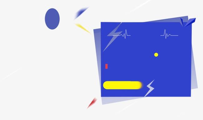蓝色淘宝几何扁平