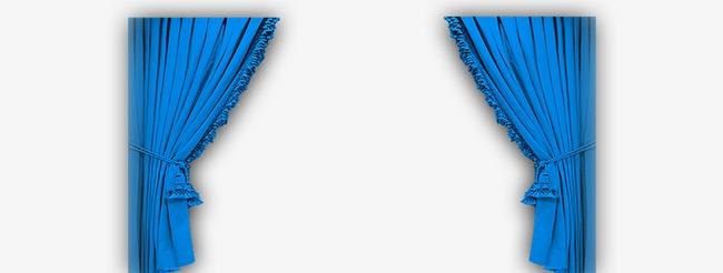 蓝色舞台帷幕