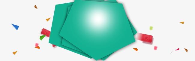 绿色扁平元素