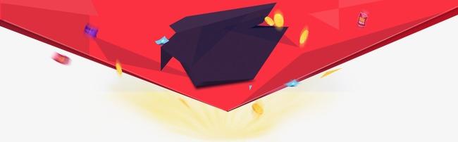 红色扁平图案