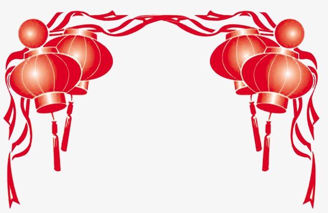 红灯笼彩带