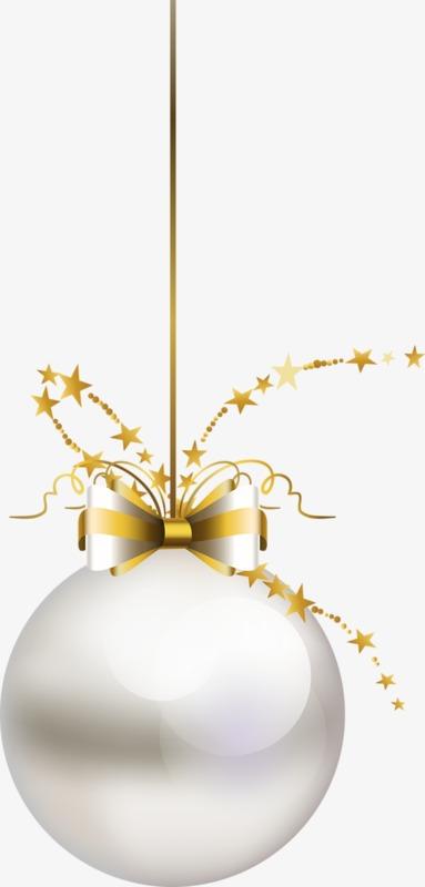 白色圣诞圆球