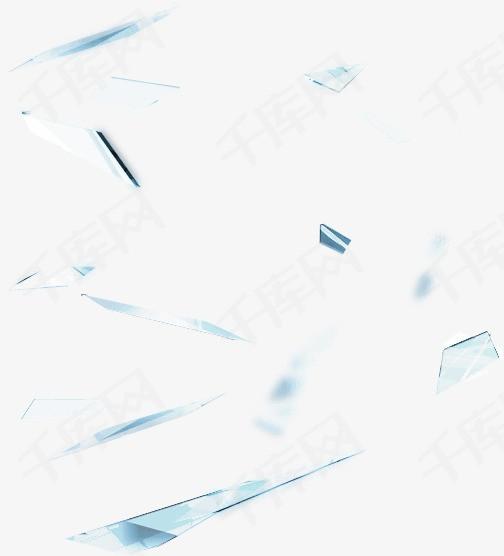 漂浮的菱形玻璃