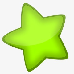 绿色五角星