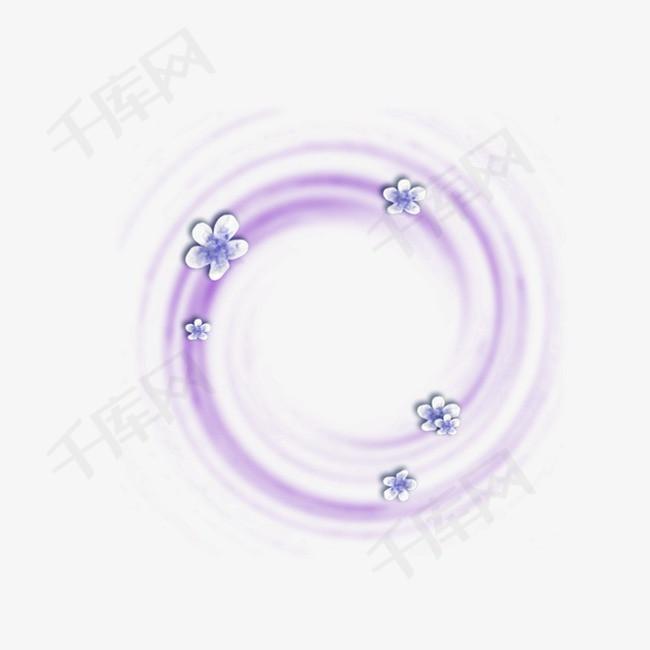 紫色圆环花瓣