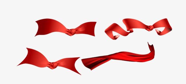 4款红色飘带