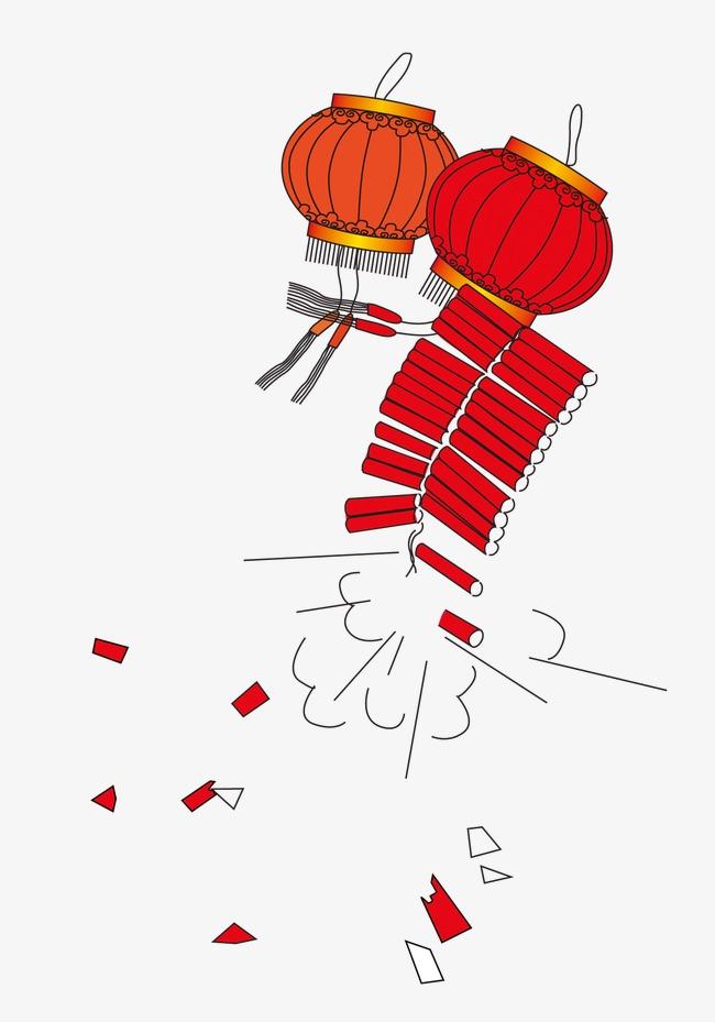 卡通手绘鞭炮灯笼模板下载(图片编号:14584866)