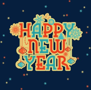 新年快乐可爱字体