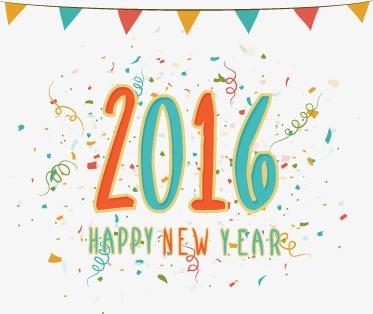 2016可爱卡通新年快乐