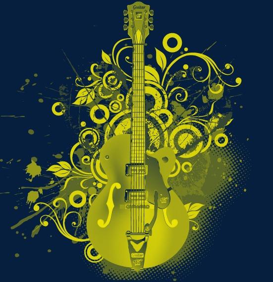 设计元素 其他 装饰图案 > 吉他图案元素  [版权图片] 找相似下一张 >