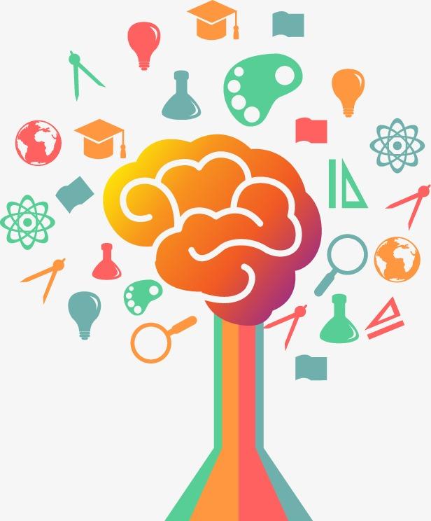 卡通教育彩色树