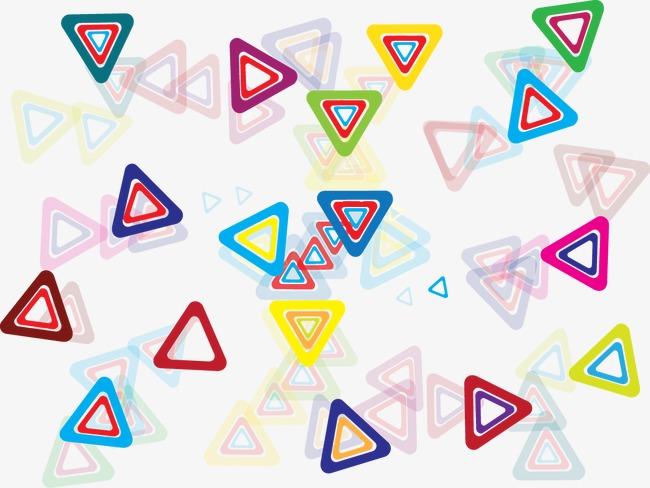 设计元素 其他 漂浮素材 > 多彩三角形漂浮  [版权图片] 找相似下一张