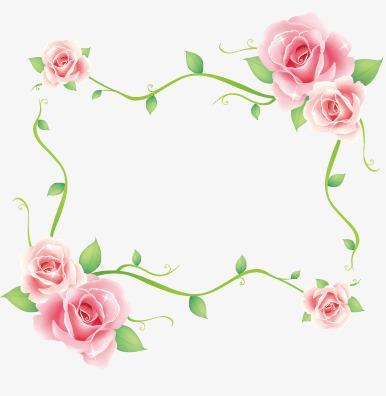 玫瑰花边框
