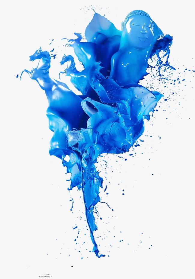 蓝色图案模板下载(图片编号:14586255)_效果素材_其他