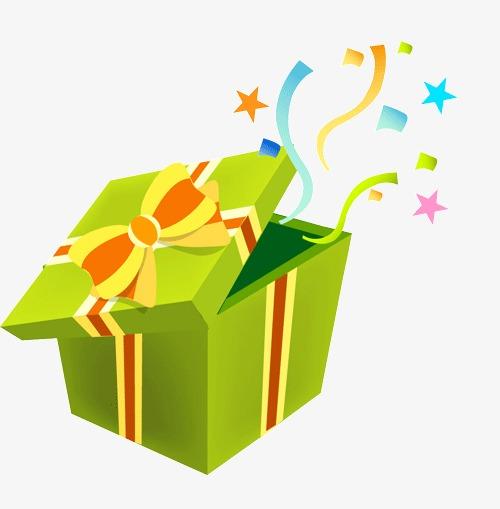 设计元素 其他 装饰图案 > 绿色礼物盒