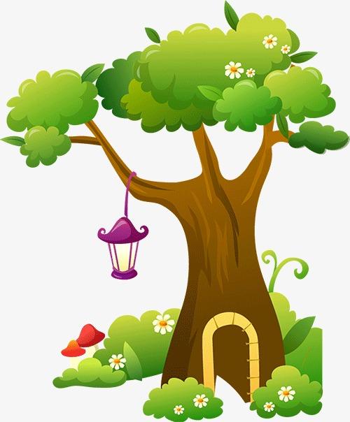 小树发芽简笔画涂色