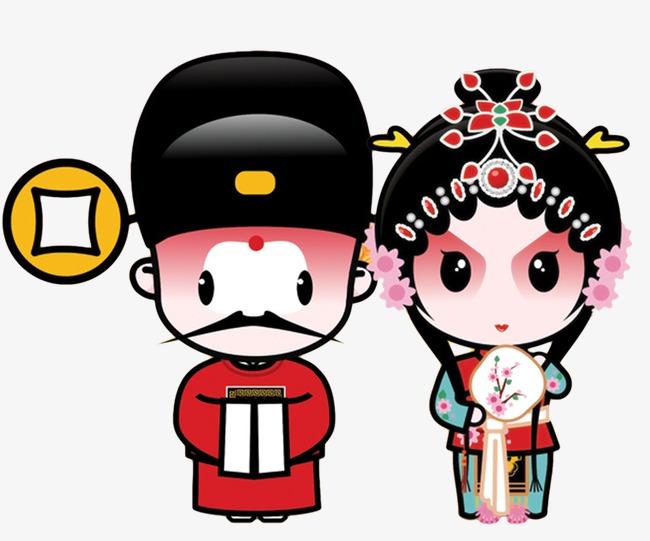 京剧卡通小人模板下载(图片编号:14586910)