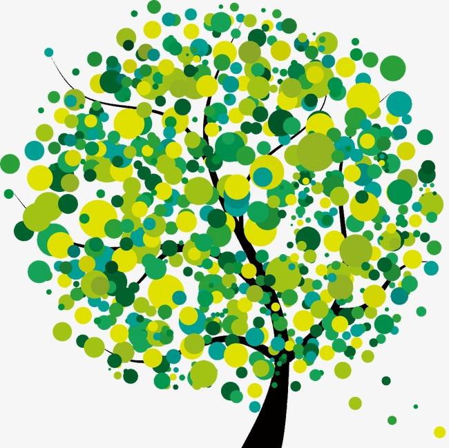 绿色清新创意树
