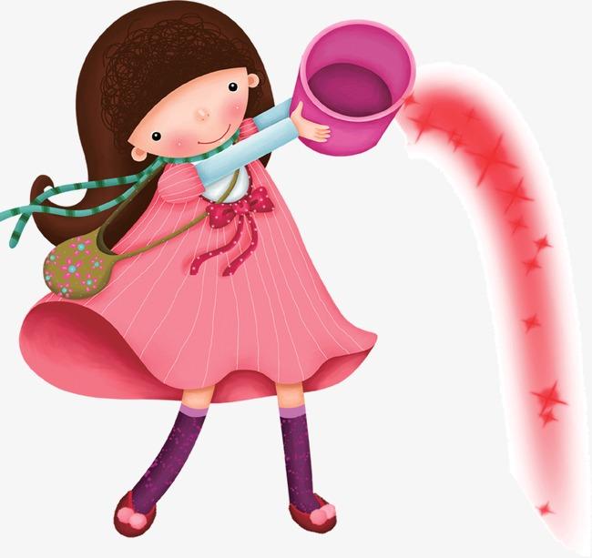 小女孩卡通人物插画(图片编号:15730866)