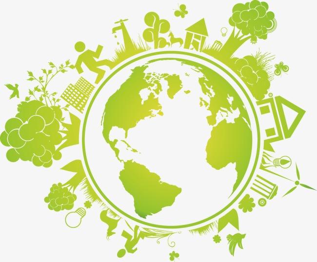 创意绿色地球元素图片下载意地球环保绿色矢量素材绿色环保地球创意意