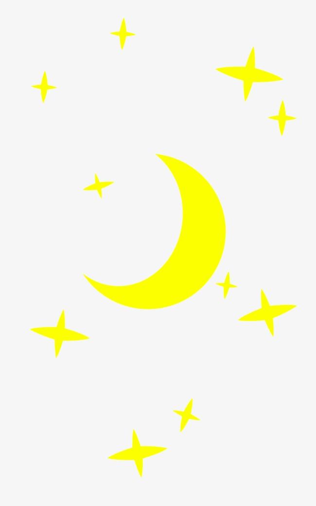 卡通星星月亮