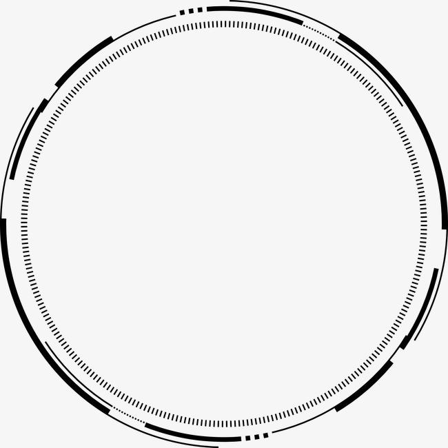 水墨ps水墨竹子科技感几何圈圈【高清png素材】-90设计