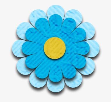 卡通鲜花背景元素 手工花朵素材图片免费下载_高清装饰图案png_千库网