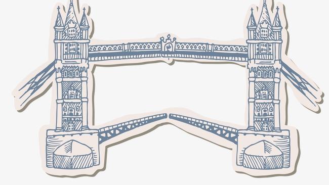 手绘伦敦大桥模板下载(图片编号:14588042)