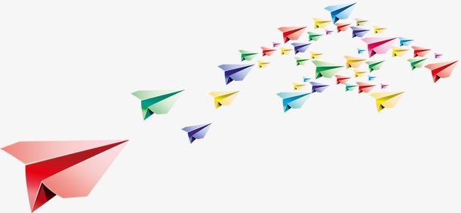 多彩纸飞机元素模板下载(图片编号:14588224)